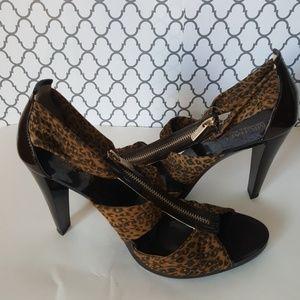 Michael Kors Cheetah Berkley T-Strap Heels